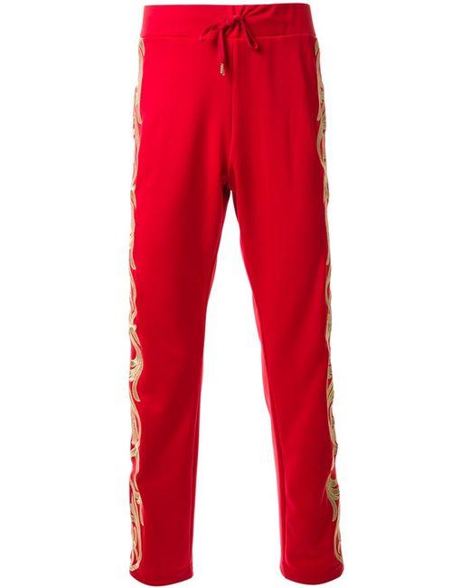 DRESS CAMP | Мужское Красный Dresscamp Embroide Track Pants 44 Polyester
