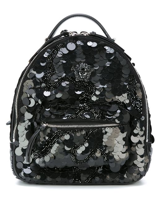 Versace | Женское Чёрный Small Palazzo Medusa Sequined Backpack