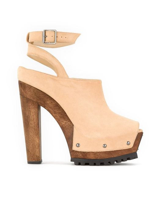 Andrea Bogosian | Женское Nude/Neutrals Ankle Strap Mules 35 Chamois Leather
