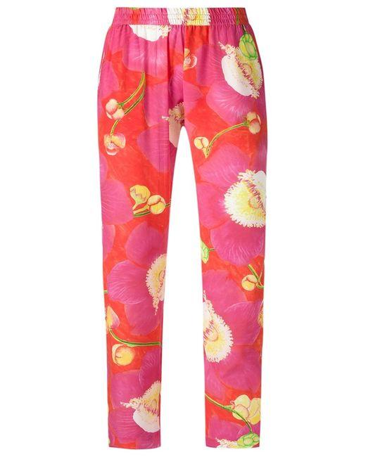 Isolda | Женское Розовый Silk Printed Trousers 38 Silk