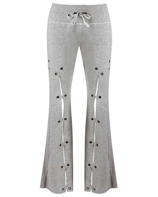 Andrea Bogosian | Женское Серый Flared Trousers Pp Cotton/Polyester
