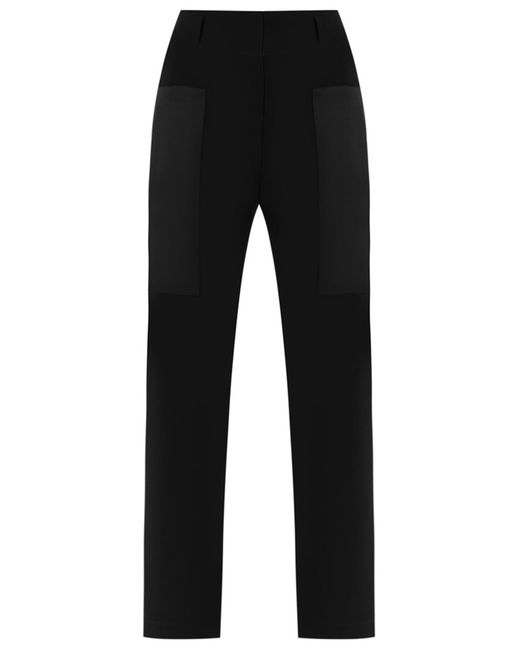 GLORIA COELHO | Женское Чёрный Slim Fit Trousers 44 Polyester/Acetate