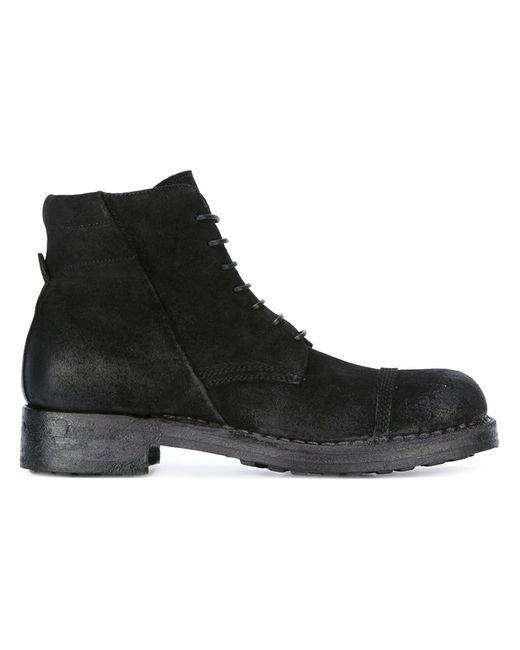 Silvano Sassetti   Мужское Чёрный Milano Bad Boots 7 Leather/Suede/Rubber