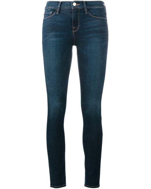 Frame Denim | Женское Синий Cropped Skinny Jeans 30 Cotton/Polyester/Spandex/Elastane