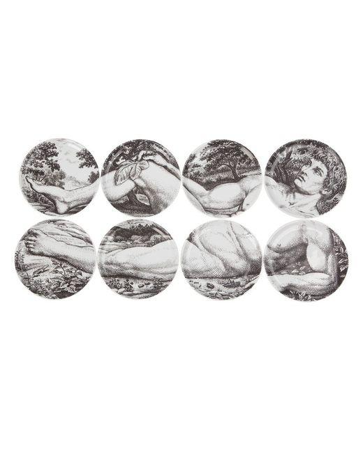 FORNASETTI | Серый Set Of Eight Coasters