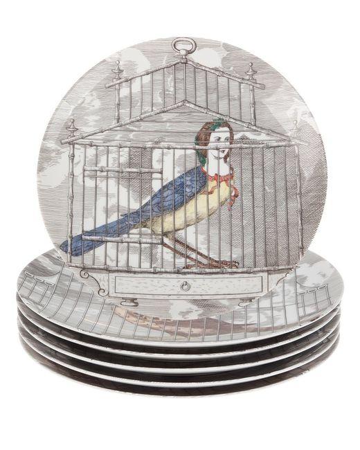 FORNASETTI | Серый Plate Set