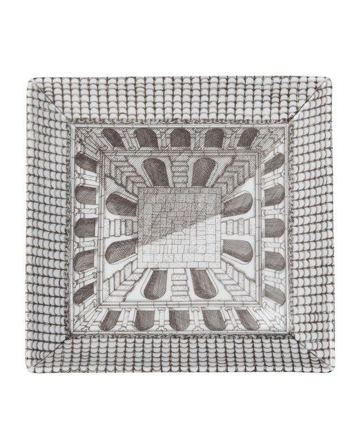 FORNASETTI | Серый Square Plate