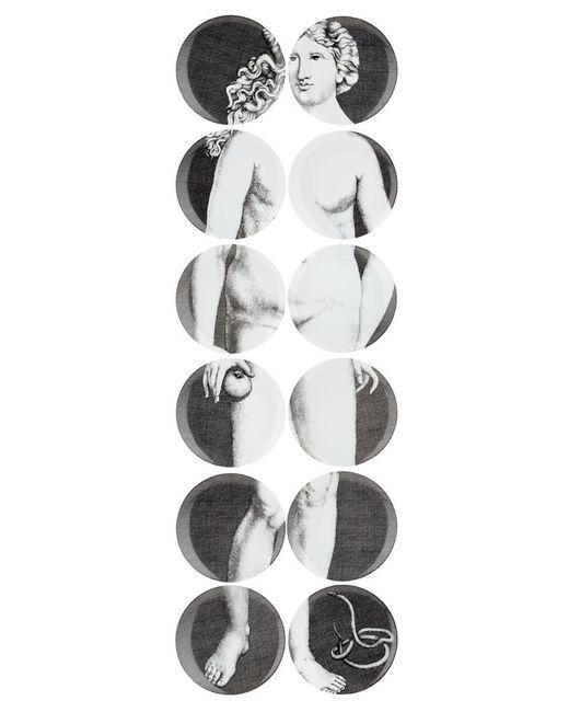 FORNASETTI   Серый 12 Piece Plate Set
