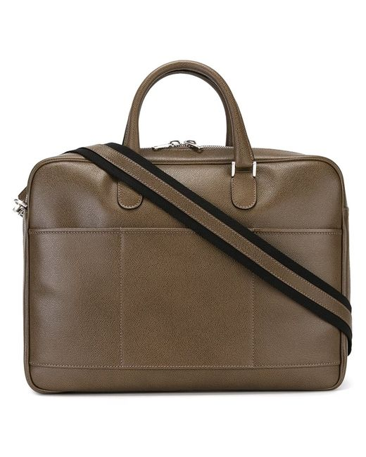 Valextra | Мужское Коричневый Avietta Briefcase Leather