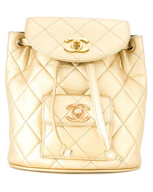 Chanel Vintage | Женское Серебристый Mini Logo Backpack