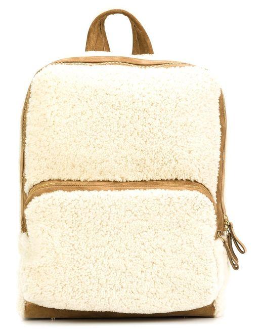 Pierre Hardy | Женское Белый Zipped Fur Backpack