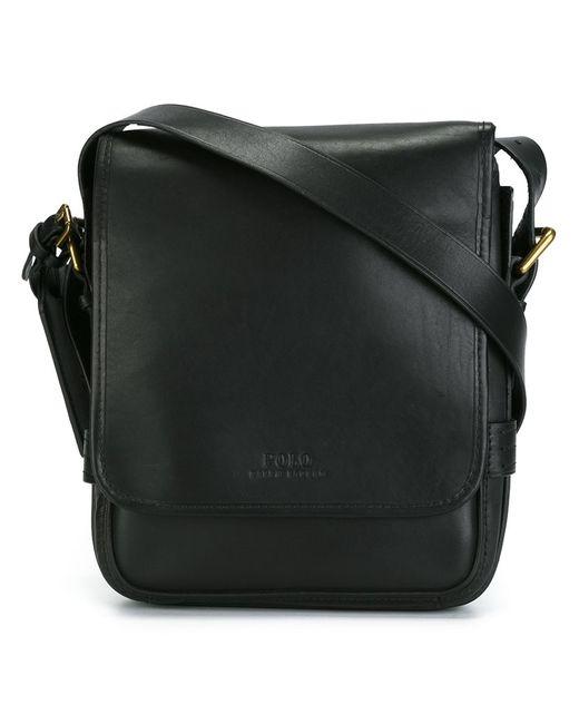 Polo Ralph Lauren | Мужское Чёрный Flap Messenger Bag Leather