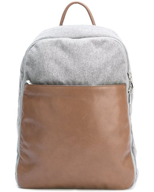 Brunello Cucinelli | Мужское Коричневый Classic Packpack Leather/Wool