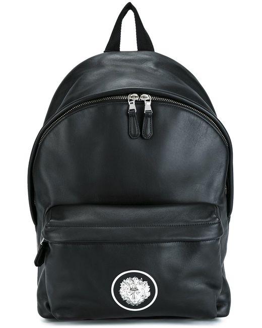 Versus | Мужское Чёрный Logo Plaque Backpack Leather/Polyamide