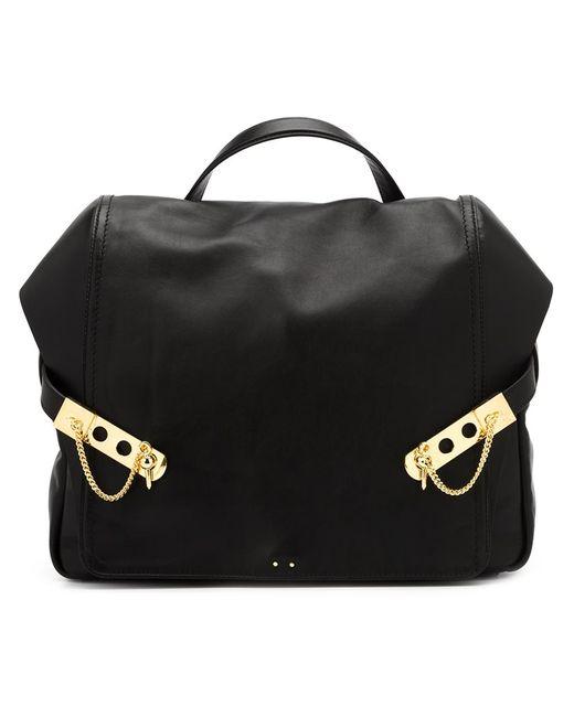 Anthony Vaccarello   Женское Чёрный Leather Backpack