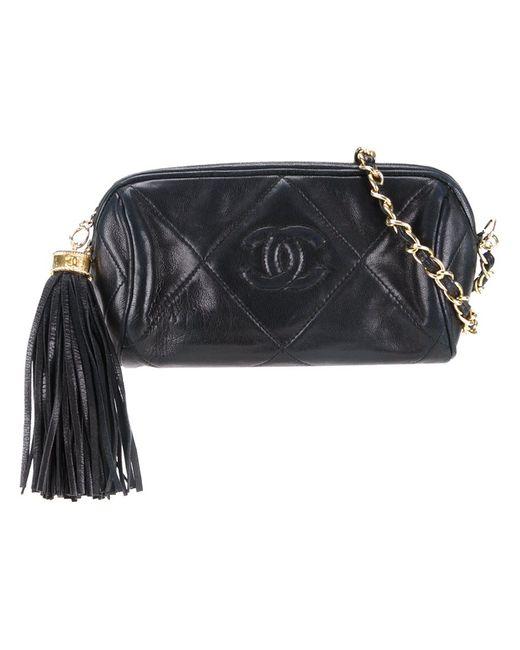 Chanel Vintage | Женское Чёрный Fringe Chain Pouch