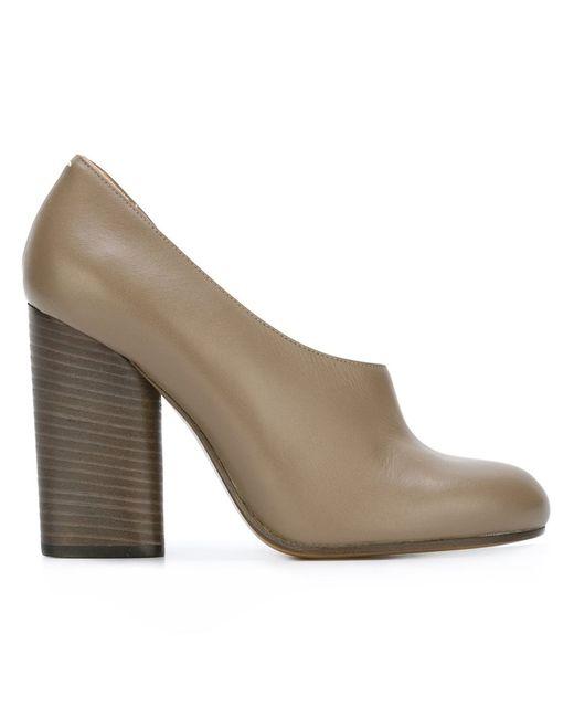 Maison Margiela | Женское Серый Chunky Heel Pumps 38.5 Calf Leather/Leather