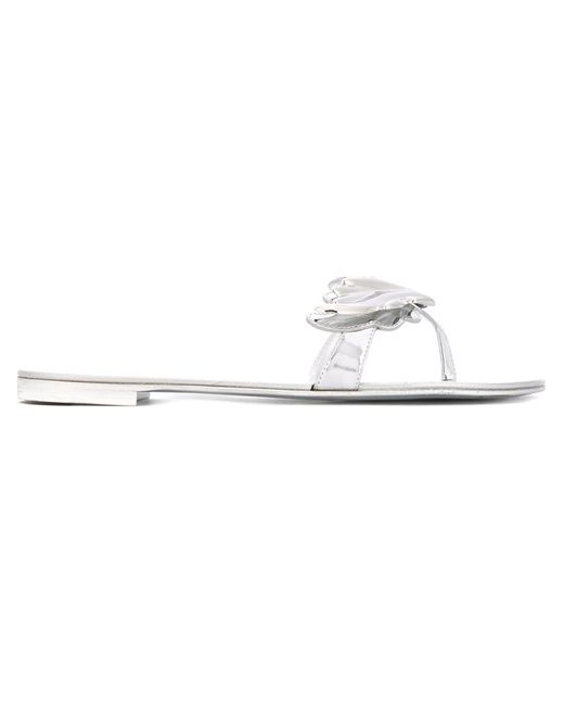 Giuseppe Zanotti Design | Женское Серебристый Cruel Sandals 37 Patent Leather/Metal