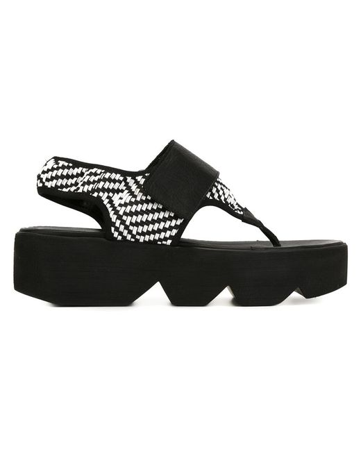 Vic Matie' | Женское Белый Vic Matie Flatform Sandals 39 Leather/Polyamide/Rubber