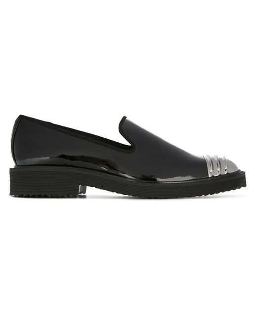 Giuseppe Zanotti Design | Мужское Чёрный Patent Loafers 40 Leather/Patent Leather/Metal/Rubber