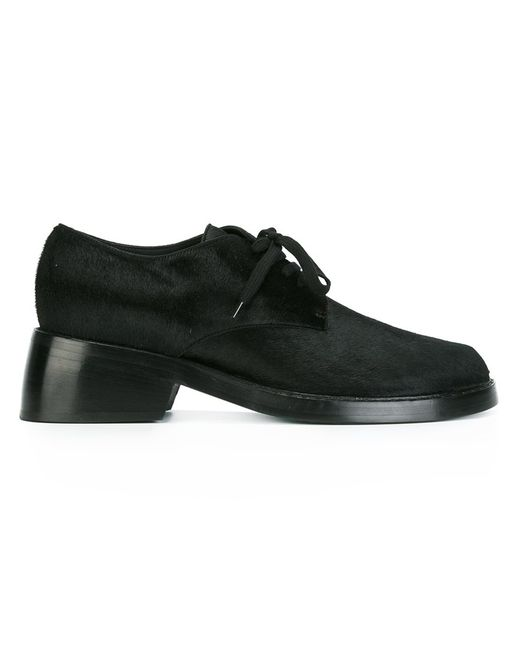 Ann Demeulemeester | Женское Чёрный Blanche Lace Up Shoes 40 Leather/Calf