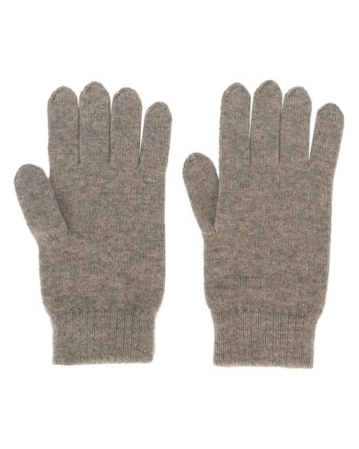 N.PEAL | Nude/Neutrals Cashmere Ribbed Gloves Adult Unisex Cashmere