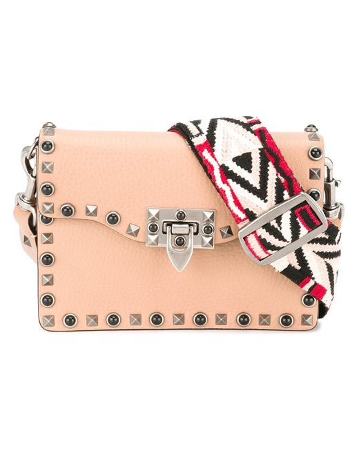 Valentino | Женское Розовый Rockstud Rolling Shoulder Bag