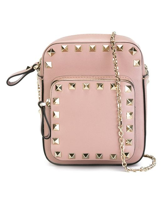 Valentino | Женское Nude/Neutrals Rockstud Standing Shoulder Bag