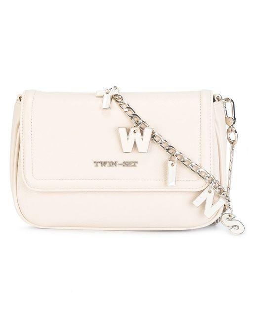 Twin-Set Jeans | Женское Nude/Neutrals Lettered Chain Crossbody Bag