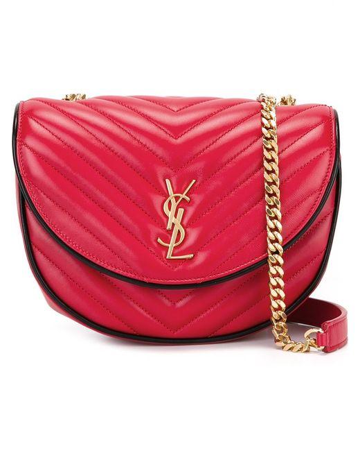 Saint Laurent   Женское Красный Bubble Monogram Satchel Bag