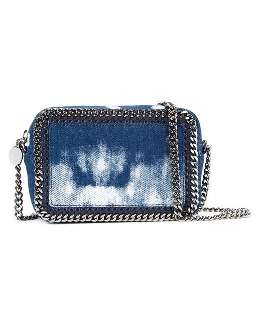 Stella Mccartney   Женское Синий Tiny Falabella Zip Crossbody Bag