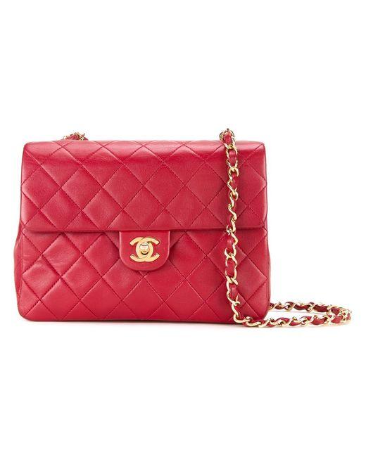 Chanel Vintage   Женское Красный Quilted Shoulder Bag