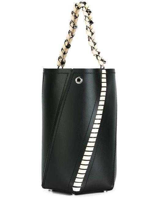 Proenza Schouler   Женское Чёрный Medium Hex Whipstitch Bucket Bag