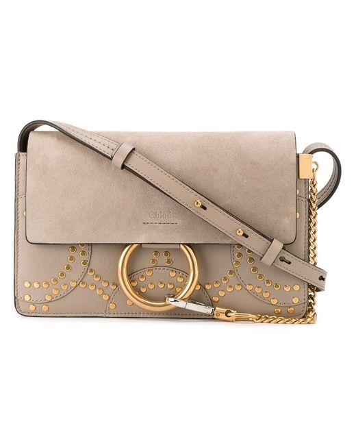 Chloe | Женское Серый Chloé Small Faye Shoulder Bag