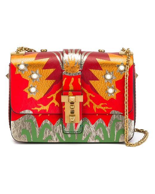 Valentino | Женское Красный Volcano B-Rockstud Shoulder Bag