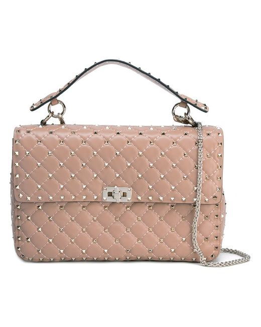 Valentino | Женское Nude/Neutrals Rockstud Matelasse Shoulder Bag