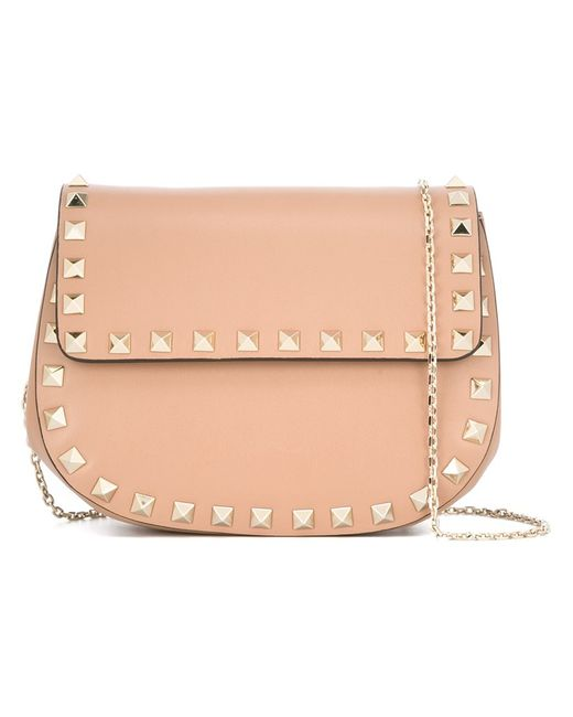 Valentino | Женское Nude/Neutrals Rockstud Foldover Shoulder Bag