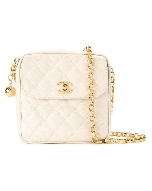 Chanel Vintage | Женское Белый Quilted Shoulder Bag