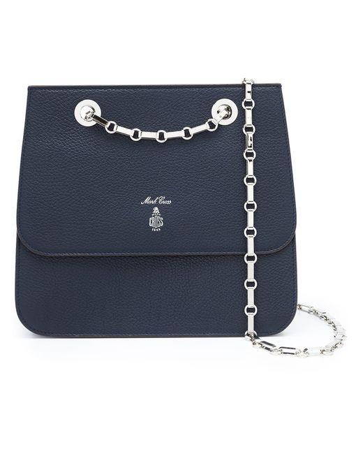 Mark Cross   Женское Синий Chain Strap Crossbody Bag