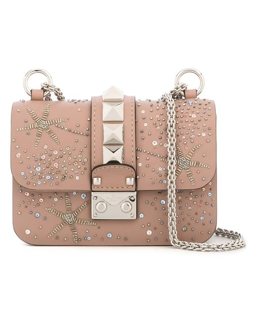 Valentino | Женское Nude/Neutrals Mini Glam Lock Shoulder Bag