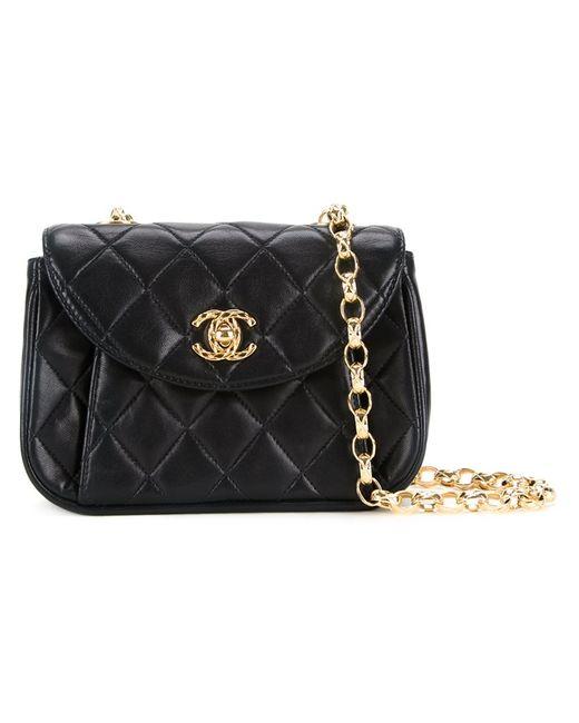 Chanel Vintage | Женское Чёрный Small Quilted Shoulder Bag