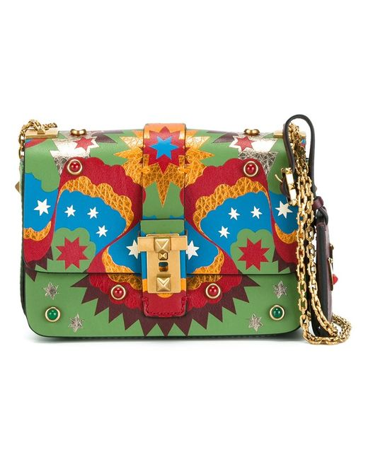 Valentino   Женское Зелёный Micro B-Rockstud Shoulder Bag