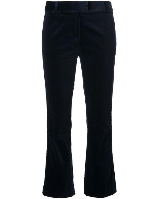 Frame Denim | Женское Синий Cropped Flared Trousers 27 Cotton/Polyester/Spandex/Elastane/Lyocell