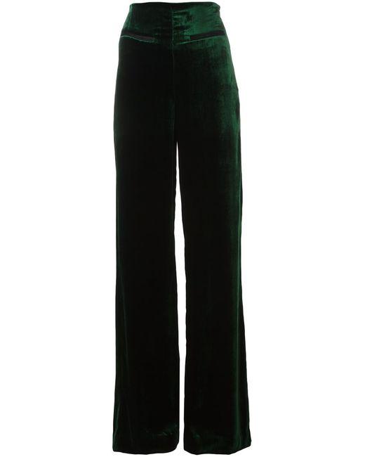 Haider Ackermann   Женское Зелёный Hiram Velour Straight Trousers 38 Silk/Cotton/Acetate/Rayon