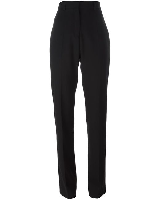 Iro | Женское Чёрный High-Waisted Trousers 40 Spandex/Elastane/Virgin Wool
