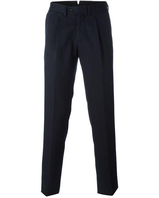 BORRELLI   Мужское Синий Classic Tapered Trousers 54 Cotton/Polyester/Virgin Wool
