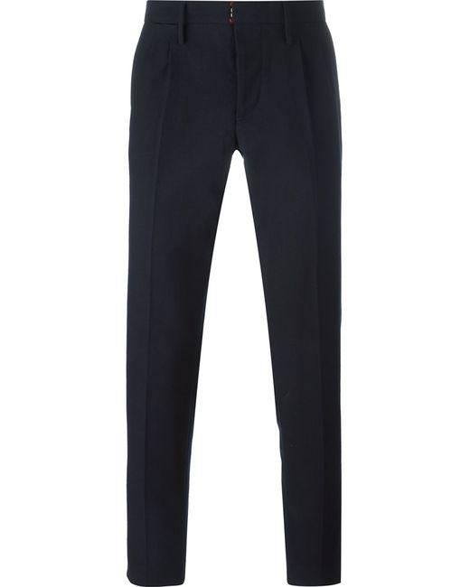 Incotex | Мужское Синий Tailored Trousers 48 Cotton/Wool