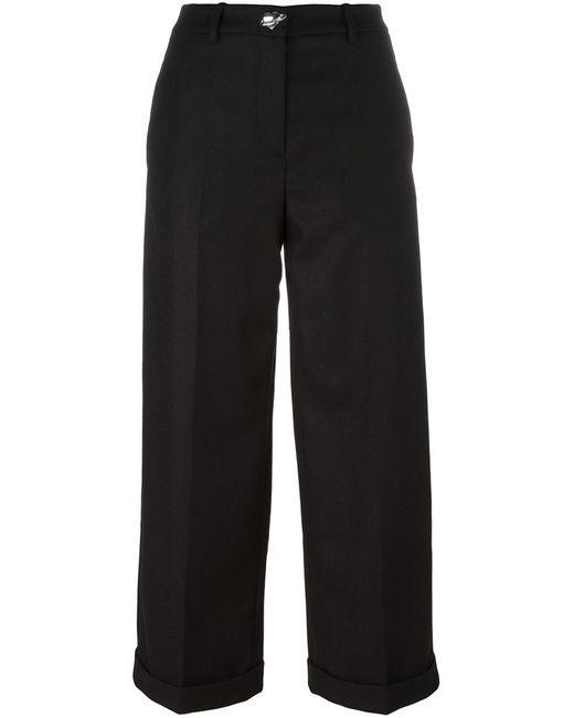 Love Moschino | Женское Чёрный Wide Leg Cropped Trousers 44 Polyamide/Acetate/Viscose/Wool