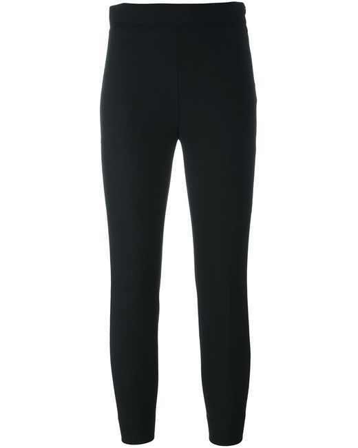 Iro | Женское Чёрный Slim Fit Cropped Trousers 38 Spandex/Elastane/Virgin Wool