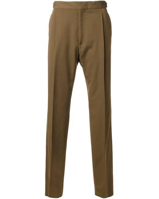 Lanvin   Мужское Коричневый Pleated Trousers 46 Virgin Wool